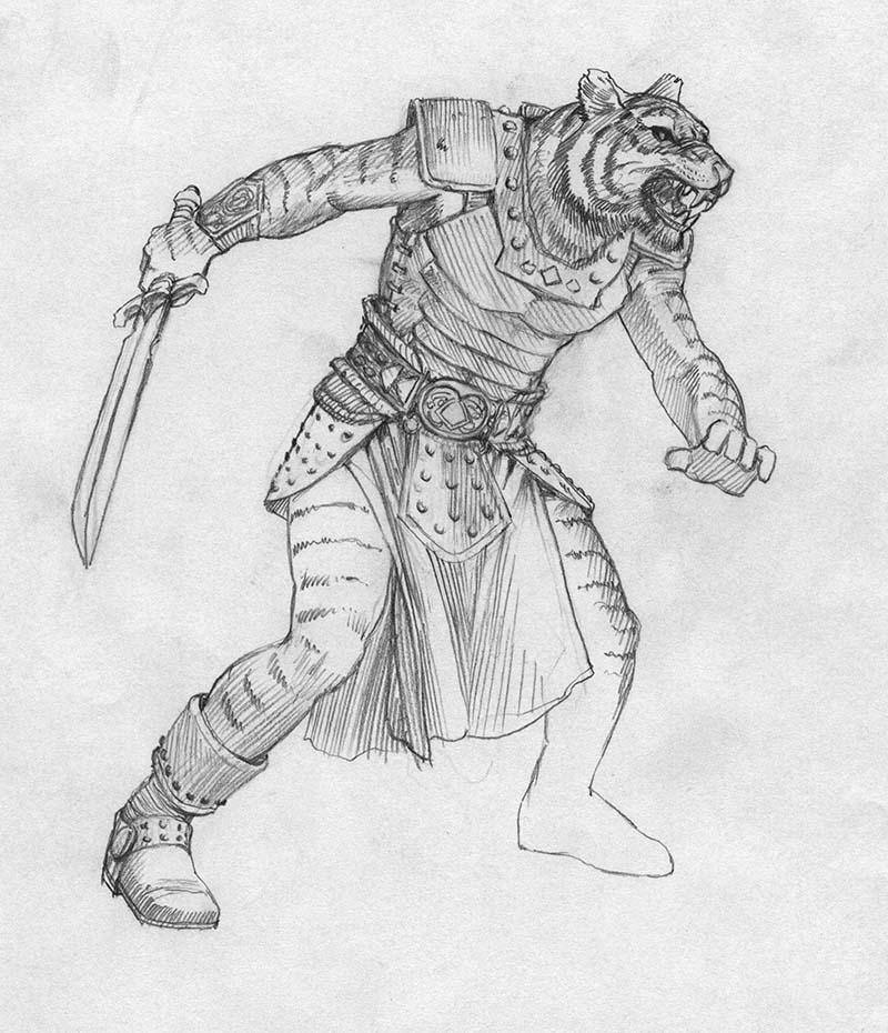 EQ Sketch 292 - Keith Parkinson
