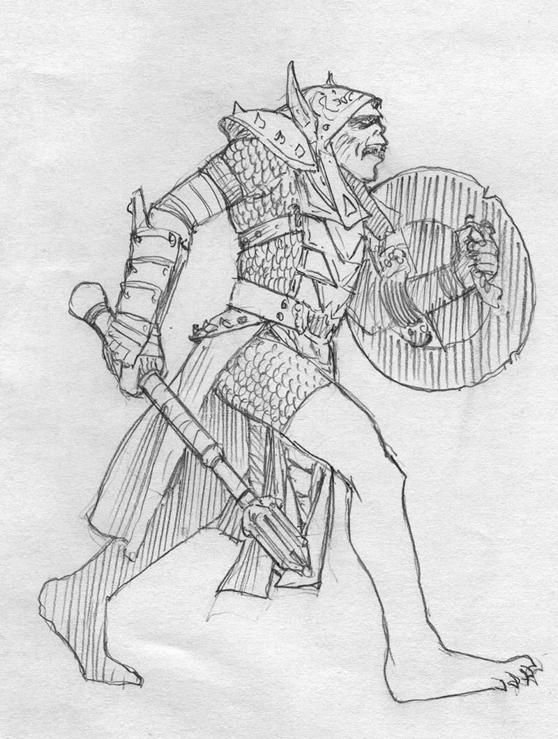 Original Sketch - Keith Parkinson