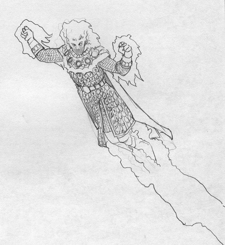 EQ - Sketch 100 - Keith Parkinson