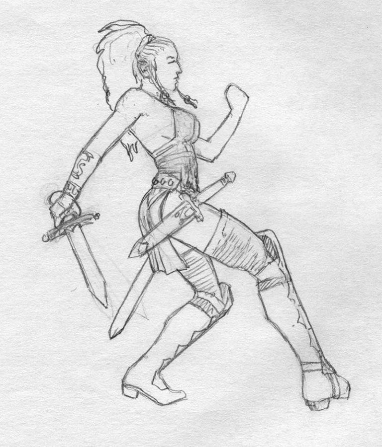 EQ - Sketch 230 - Keith Parkinson