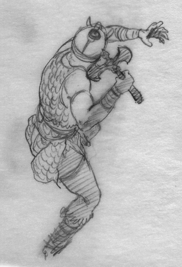 EQ - Sketch 297 - Keith Parkinson